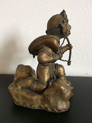 Rare Old Colombian Gold Copper Tumbaga - Large - Hunter With Prey