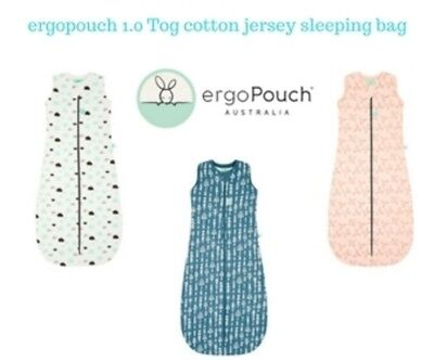 Ergopouch 1Tog cotton Jersey sleeping bag8-24 Months   Clouds -  Petals - Midnig