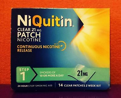 NiQuitin  21mg  ( 14 PATCHES )  Step 1  CQ Nicotine Replacement Stop Smoking Aid