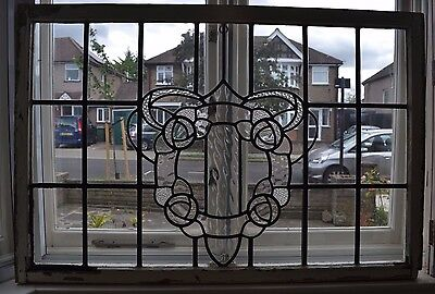 Large leaded light stained glass window R537 DELIVERY OPTIONS & INSURANCE OPTION