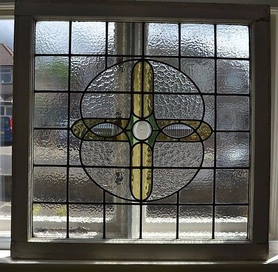 Large leaded light stained glass window. R568. SHIPPING INSURANCE INCLUDED