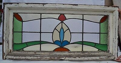 British leaded light stained glass window. R570a. MULTIPLE DELIVERY OPTIONS!