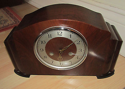 Smiths enfield Chiming Mantel Clock - In Good Working Order