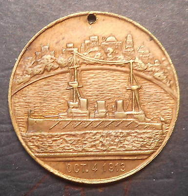 1913 Visit of the Commonwealth Fleet to Sydney Medal aUNC