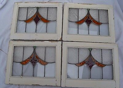 4 British leaded light stained glass windows. R578b/d. WORLDWIDE DELIVERY!!!