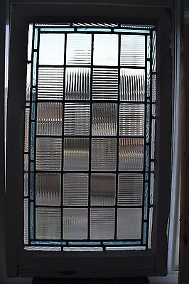 2 British leaded light stained glass windows. R579a. MULTIPLE DELIVERY OPTIONS!