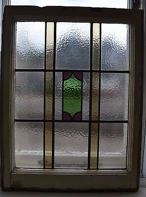 Art deco leaded light stained glass window. R584c. MULTIPLE DELIVERY OPTIONS!