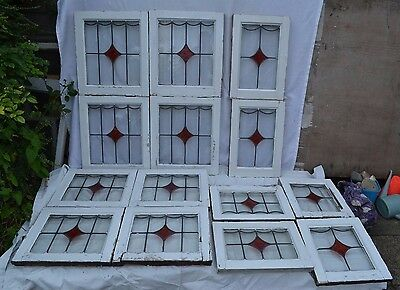 14 English leaded light stained glass windows. R590. MULTIPLE DELIVERY OPTIONS!