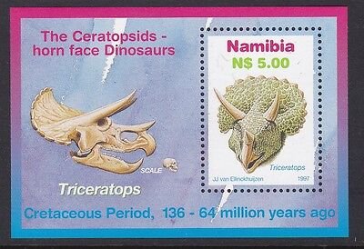 NAMIBIA 1997 Dinosaurs Triceratops complete mint sheet sgMS738 MNH