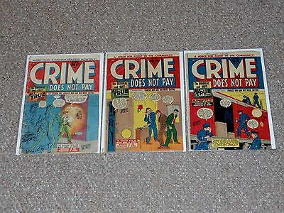 1940s Canadian Crime Does Not Pay Lot # 67, 70 & 71 Poor to Good Condition