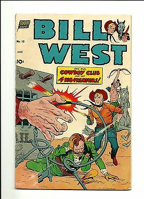 1952 Standard Comics Bill West # 10 GD 2.0 Condition Last Issue Billy West