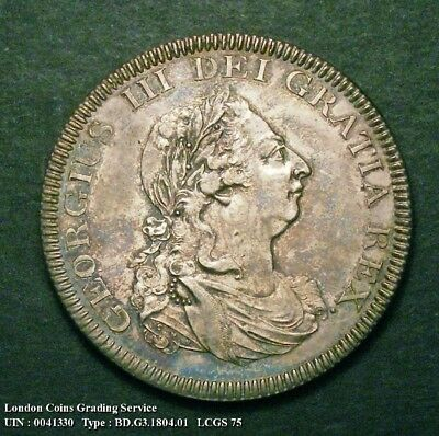 A/UNC 1804 Bank Dollar. Graded and encapsulated, CGS75.(MS62-63).