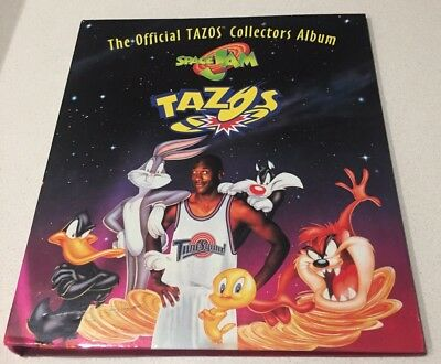 The Official Tazos Collectors Album Space Jam Complete Set Of 80