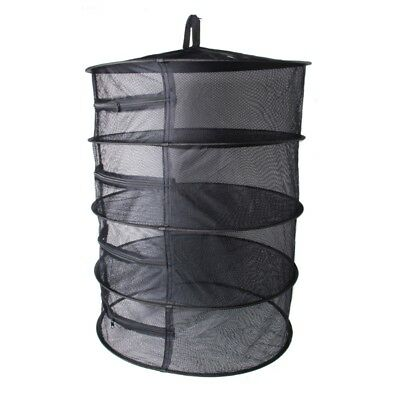 Bubble Wala Collapsible 4 Layer Tier Mesh Dry Net Hanging Herbs Plant Grow Hydro