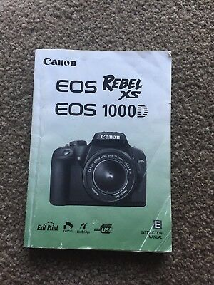 Canon EOS Rebel XS 1000D Instruction Manual