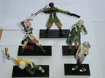Final Fantasy XIII (13) selection of 5 figures with stands - new & boxed