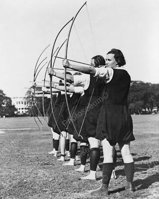 Archery Girls Bows Arrows Classic 8 by 10 Reprint Photograph