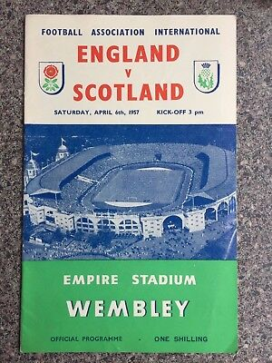 Football programme Wembley England v Scotland 6th April 1957