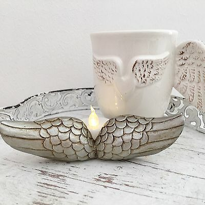 Silver Angel Wings Tea Light Candle Holder Tea Light Remembrance Home Gift