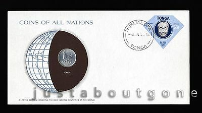 Lot155 Fdc Unc ─ Coins Of All Nations Uncirculated Stamp Cover