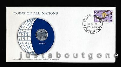 Lot199 Fdc Unc ─ Coins Of All Nations Uncirculated Stamp Cover