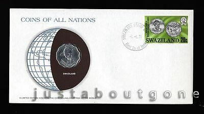 Lot160 Fdc Unc ─ Coins Of All Nations Uncirculated Stamp Cover