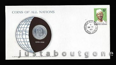 Lot163 Fdc Unc ─ Coins Of All Nations Uncirculated Stamp Cover