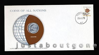 Lot194B Fdc Unc ─ Coins Of All Nations Uncirculated Stamp Cover