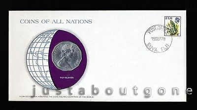 Lot144 Fdc Unc ─ Coins Of All Nations Uncirculated Stamp Cover