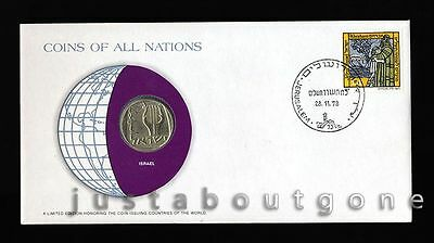 Lot200 Fdc Unc ─ Coins Of All Nations Uncirculated Stamp Cover