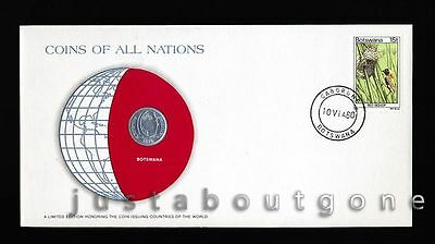 Lot196 Fdc Unc ─ Coins Of All Nations Uncirculated Stamp Cover