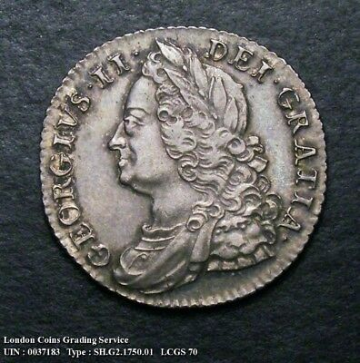 A/UNC 1750 Shilling. Graded and encapsulated, CGS70.(MS60-61).