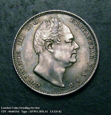 Choice UNC 1831 Sixpence. Graded and encapsulated, CGS82.(MS64-65).