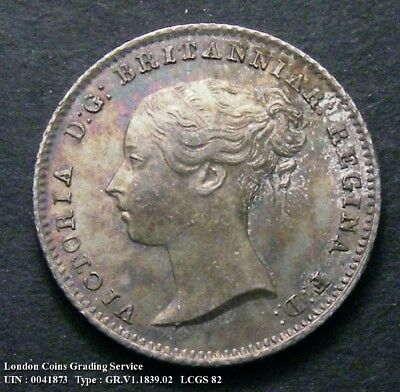 Choice UNC 1839 Groat. Graded and encapsulated, CGS82.(MS64-65).