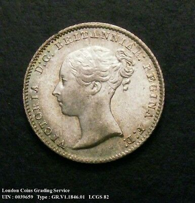 Choice UNC 1846 Groat. Graded and encapsulated, CGS82.(MS64-65).