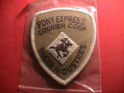Pony Express Courier Corp Of America Baker Industries Mail Delivery Patch New