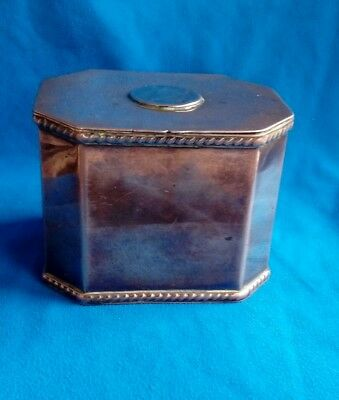 19th century octagonal copper tea caddy