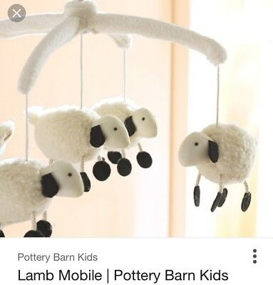 Pottery barn kids lamb mobile and Mobile Arm Set