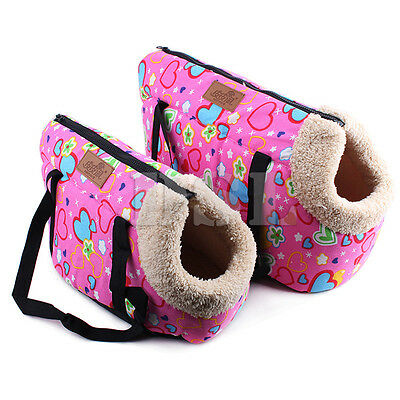 1x Heart Pet Travel Bag For Dog Cat Rabbit Kitten Carrier Cage Tote Soft Comfort