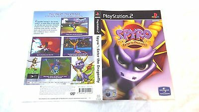 SPYRO : ENTER THE DRAGONFLY : ORIGINAL COVER (ARTWORK/SLEEVE) ONLY, ps2