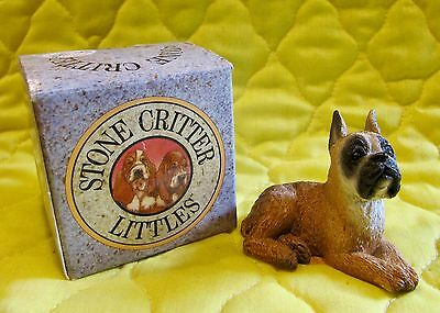 Boxer Dog - Stone Critter Littles - Brand New In Original Box