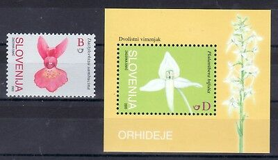 Slowenien Slovenia 2005 ** MNH block flora flovers orchid orchidee