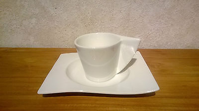 VILLEROY & BOCH *NEW* New Wave Set 9 Tasses à café 1309 +soucoupes rect. Cup V&B