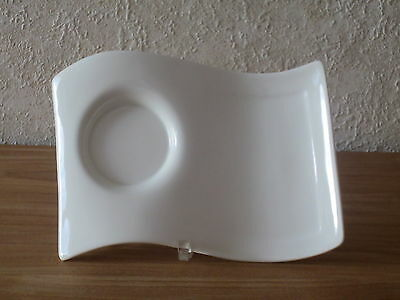 VILLEROY & BOCH *NEW* New Wave Set 2 plateaux party grand 22x17cm Dish V&B