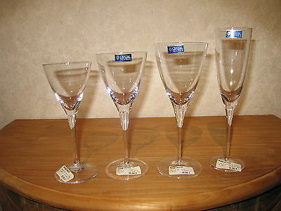 CRISTAL DE SEVRES *NEW* FLORIAN Set 4 Verres Glasses