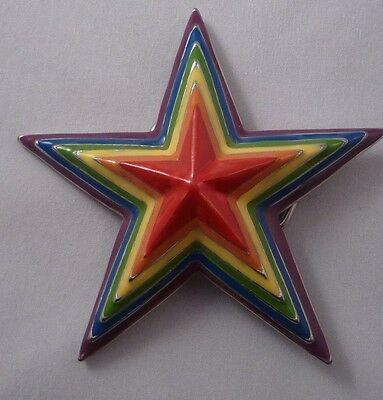 Multicolor Star Belt Buckle