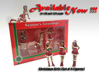 Christmas Girls - Set of 4-1/24 scale figure/figurines-NEW from American Diorama