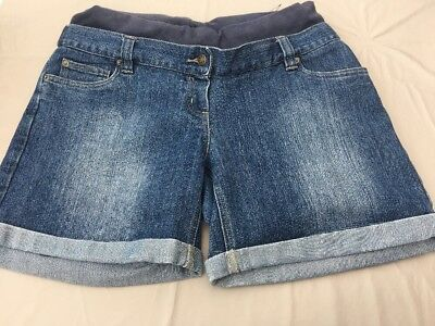 jojo maman bebe Maternity Denim Shorts Size 14