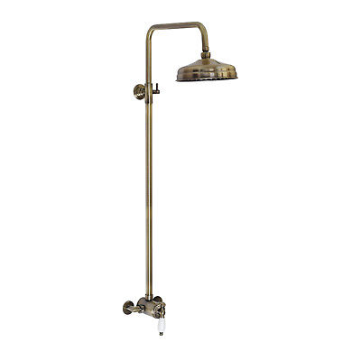 ENKI Sequential Thermostatic Shower Set Watercan 200mm Antique Bronze WINCHESTER