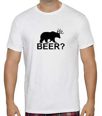 New Kids Womens Mens Beer Animal Bear Deer Funny Novelty Pub T Shirt Tee Top
